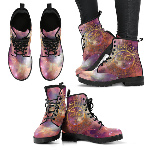 Galaxy Sun Moon 2 Handcrafted Boots - Jabrichank.com