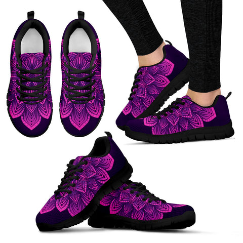 Purple Lotus Flower Mandala Sneakers. - Jabrichank.com