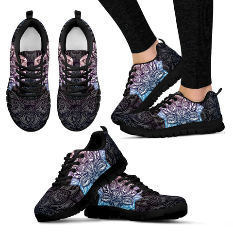 Womens Lotus Mandala Sneakers - Jabrichank.com