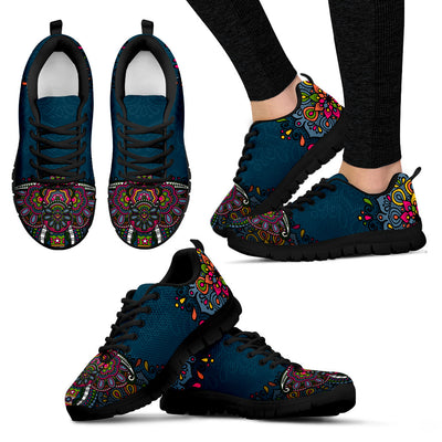 Colorful Elephant Handcrafted Sneakers - Jabrichank.com