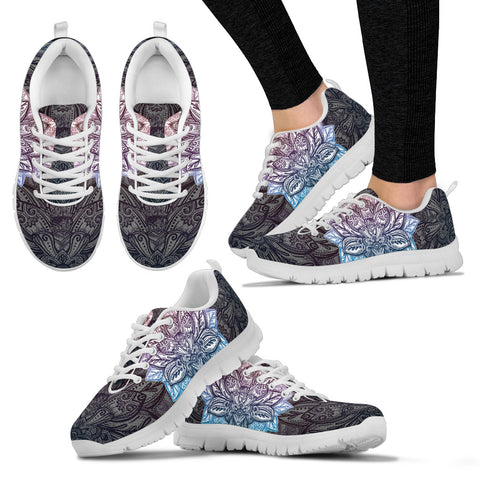 Womens Lotus Mandala Sneakers. - Jabrichank.com