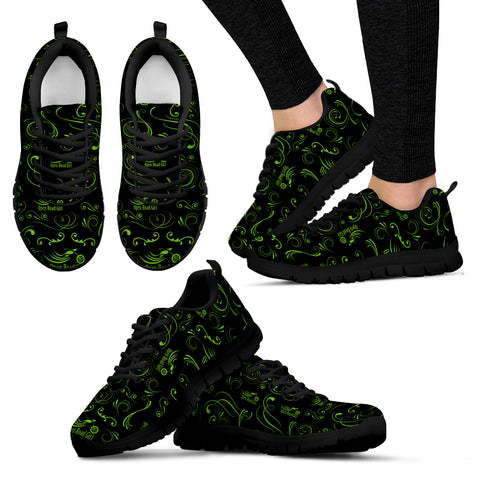 GREEN/BLACK Scatter Open Road Girl Women's Sneakers - Jabrichank.com
