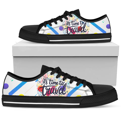 BLUE STRIP TRAVEL Women's Low Top Canvas Shoes Black - Jabrichank.com