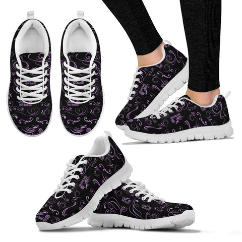 PURPLE/WHITE Scatter Open Road Girl Women's Sneakers - Jabrichank.com