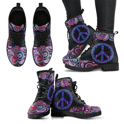 Peace and Henna Handcrafted Boots - Jabrichank.com