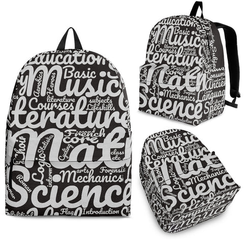 All Subjects Designer Back-to-School Backpack Grey3 - Jabrichank.com