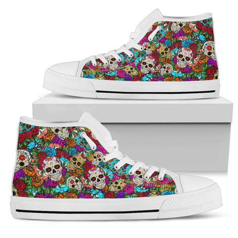 Sugar Skull Handcrafted High Tops - Jabrichank.com