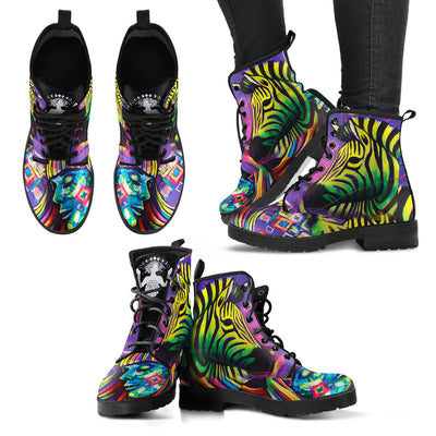 Zebra Women's Leather Boots - Jabrichank.com