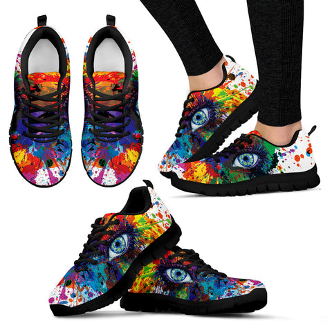 Rainbow Eye Hand Crafted Sneakers. - Jabrichank.com