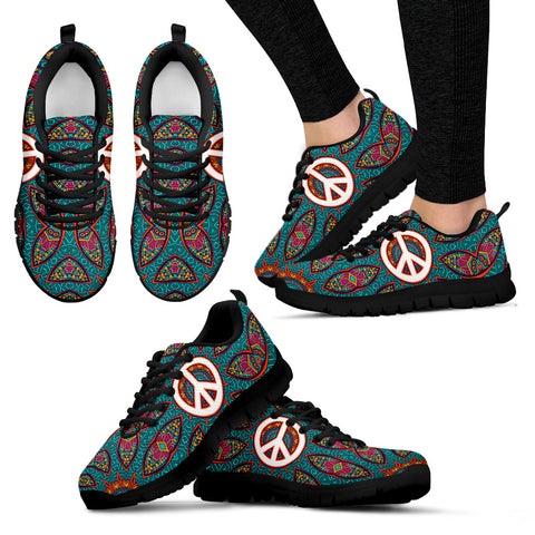 Colorful Peace Fractal Sneakers - Jabrichank.com
