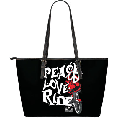 REDPeace, Love, Ride LARGE PU LEATHER TOTE - Jabrichank.com