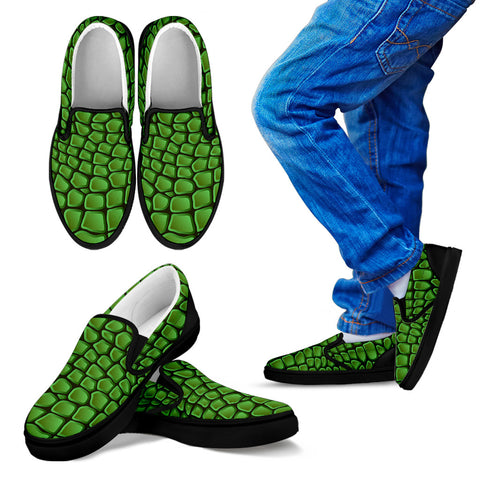 In Love With Crocodile Kid's Slip Ons - Jabrichank.com