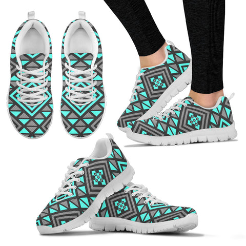 Boho Seamless Blue Pattern Sneakers. - Jabrichank.com