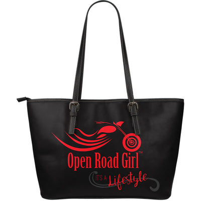 RED It's a Lifestyle Open Road Girl LARGE PU LEATHER Tote - Jabrichank.com