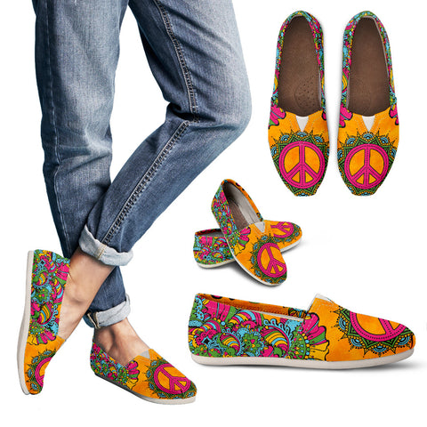 Orange Peace Handcrafted Casual Shoes - Jabrichank.com