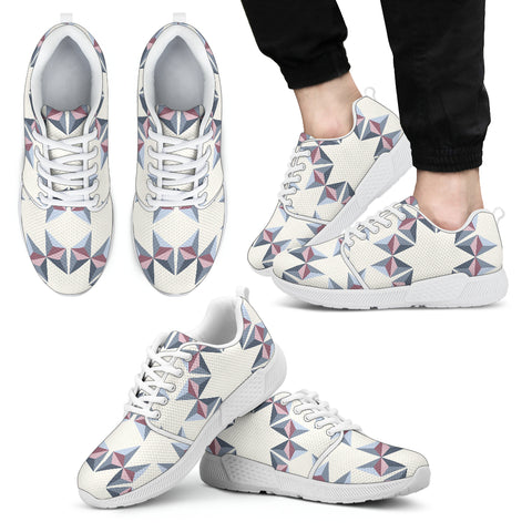 Men's Kaleidoscope Athletic Sneakers White - Jabrichank.com