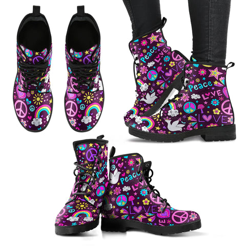 Peace & Love Handcrafted Boots - Jabrichank.com