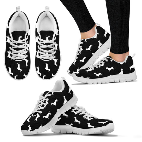 Black sneakers white soles and white dachshunds - Jabrichank.com