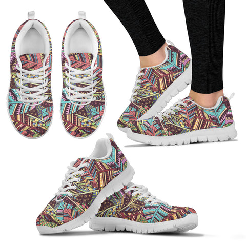 Indian Feathers Boho Sneakers. - Jabrichank.com