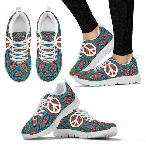 Colorful Peace Fractal Sneakers. - Jabrichank.com