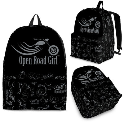 GREY Open Road Girl Scatter Design Backpack - Jabrichank.com