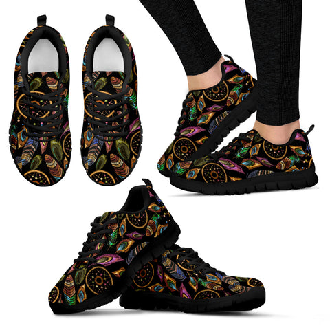 Boho Tribal Dream Catcher Feathers Sneakers - Jabrichank.com