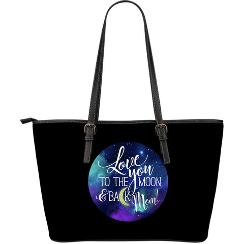 NP Love You To The Moon Women's Leather Tote Bag - Jabrichank.com