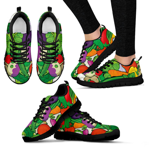 Women Black Veggie Sneakers - Jabrichank.com