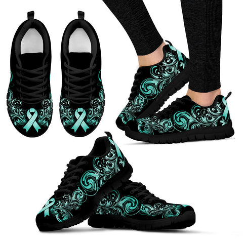 Ovarian Cancer Handcrafted Sneakers - Jabrichank.com