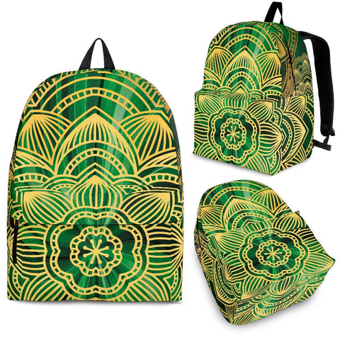 Glamour Green Mandala Backpack - Jabrichank.com