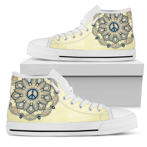 Womens Peace Mandala High Top. - Jabrichank.com