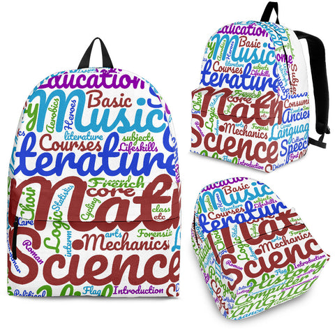 All Subjects Designer Back-to-School Backpack White3 - Jabrichank.com