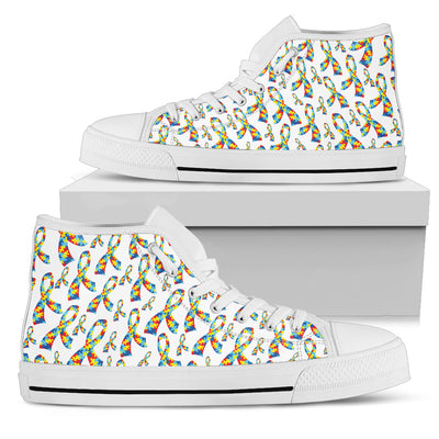 Womens Autism Awareness Ribbon High Top. - Jabrichank.com