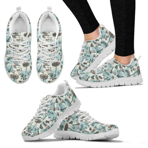 Dragonfly and Flowers sneakers - Jabrichank.com