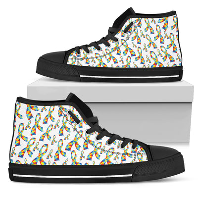 Womens Autism Awareness Ribbon High Top - Jabrichank.com