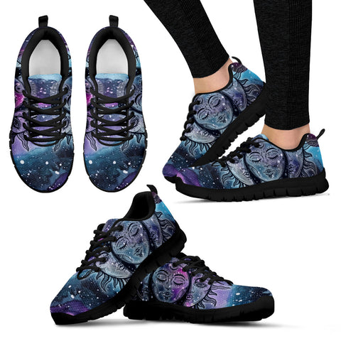 Womens Interstellar Sun and Moon Sneakers - Jabrichank.com