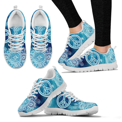 Blue Peace Mandala Sneakers. - Jabrichank.com