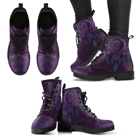 Sun & Moon Dream Catcher Handcrafted Boots - Jabrichank.com