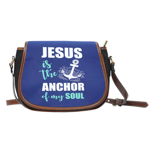 NP Jesus Is The Anchor Saddle Bag - Jabrichank.com