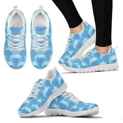 Blue Mandala Elephant Sneakers. - Jabrichank.com