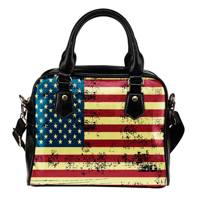 NP American Flag Leather Shoulder Handbag - Jabrichank.com