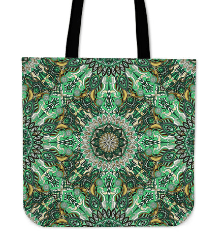Green Mandala Tote Bag - Jabrichank.com