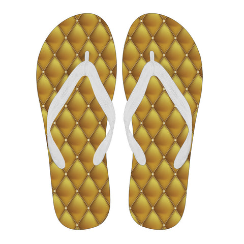 Exclusive Golden Pattern Men's Flip Flops - Jabrichank.com