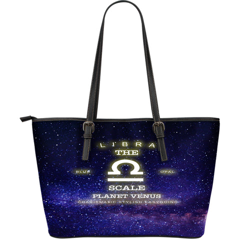 NP Zodiac Libra Leather Tote Bag - Jabrichank.com