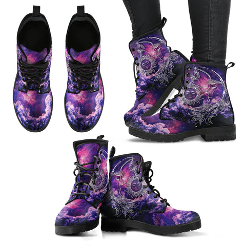 Galaxy Sun & Moon Handcrafted Boots - Jabrichank.com