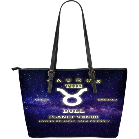 NP Zodiac Taurus Leather Tote Bag - Jabrichank.com