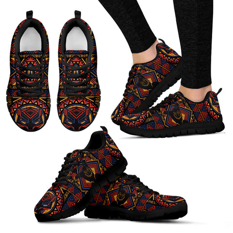 Black Warrior Hypnotic Patterns Sneakers - Jabrichank.com