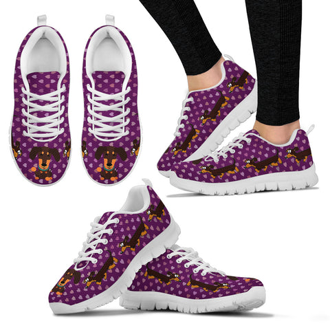 Purple sneakers, white soles, duchhunds - Jabrichank.com