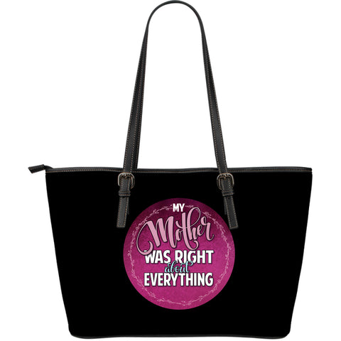 NP My Mother Was Right Leather Tote Bag - Jabrichank.com