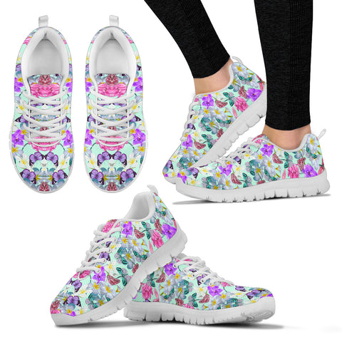 Colorful Lotus Butterfly Sneakers. - Jabrichank.com